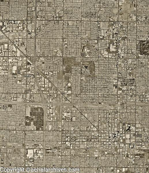 historical aerial photograph of Phoenix, Arizona, 1997