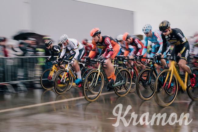 race start with CX World Champion Mathieu Van Der Poel (NED/Correndon-Circus) in the first line<br /> <br /> Superprestige cyclocross Hoogstraten 2019 (BEL)<br /> Elite Men's Race<br /> <br /> ©kramon