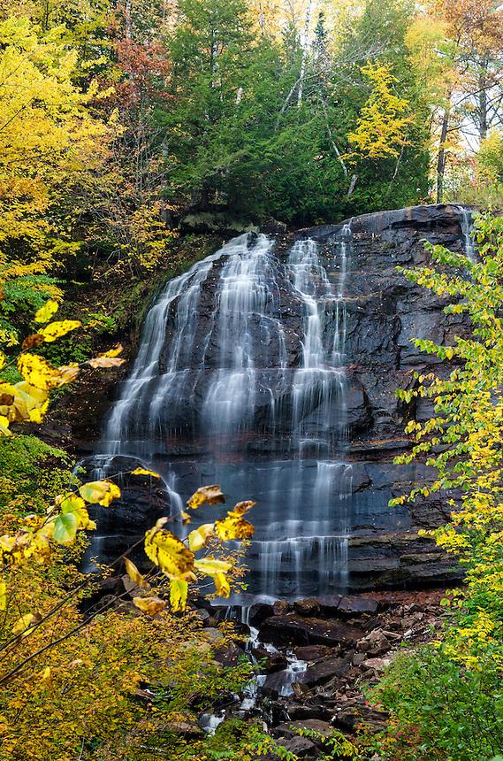 Lower Hungarian Falls during the autumn season. Hubbell, MI - Keweenaw Peninsula