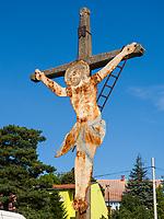 Kruzifix am Weinberg, Vrsac, Vojvodina, Serbien, Europa<br /> Crucifix at vineyard, Vrsac, Vojvodina, Serbia, Europe