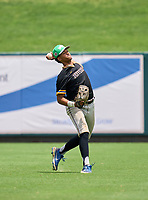 Jefferson Dragons outfielder Jaiden Duarte (3) during practice before the 42nd Annual FACA All-Star Baseball Classic on June 5, 2021 at Joker Marchant Stadium in Lakeland, Florida.  (Mike Janes/Four Seam Images)