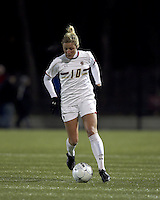 """Boston College midfielder Gibby Wagner (10) at midfield. Boston College defeated West Virginia, 4-0, in NCAA tournament """"Sweet 16"""" match at Newton Soccer Field, Newton, MA."""