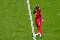 2nd July 2021; Allianz Arena, Munich, Germany; European Football Championships, Euro 2020 quarterfinals, Belgium versus Italy;   Belgian forward Romelu Lukaku  looking dejected and disappointed after going behind 2-0