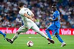Real Madrid Nacho Fernandez and Getafe CF Amath Ndiaye during La Liga match between Real Madrid and Getafe CF at Santiago Bernabeu in Madrid, Spain. August 19, 2018. (ALTERPHOTOS/Borja B.Hojas)