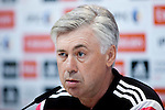 Italian coah of Real Madrid soccer team Carlo Ancelotti during a press conference at Real Madrid City in Madrid. January 23, 2015. (ALTERPHOTOS/Caro Marin)