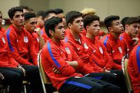 Bradenton, FL : US Soccer athletes, U-16, U-17, U-18, U-19, U-20, listen to a presentation held by US Soccer staff and coaches in Bradenton, Fla., on January 4, 2018. (Photo by Casey Brooke Lawson)