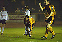 25/03/2003                   Copright Pic : James Stewart.File Name : stewart-alloa v ayr 01.IAN LITTLE STARTS TO CELEBRATE WITH GARETH HUTCHISON CELEBRATES AFTER SCORING ALLOA'S FIRST...James Stewart Photo Agency, 19 Carronlea Drive, Falkirk. FK2 8DN      Vat Reg No. 607 6932 25.Office     : +44 (0)1324 570906     .Mobile  : +44 (0)7721 416997.Fax         :  +44 (0)1324 570906.E-mail  :  jim@jspa.co.uk.If you require further information then contact Jim Stewart on any of the numbers above.........