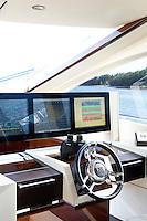 steering weel of the boat