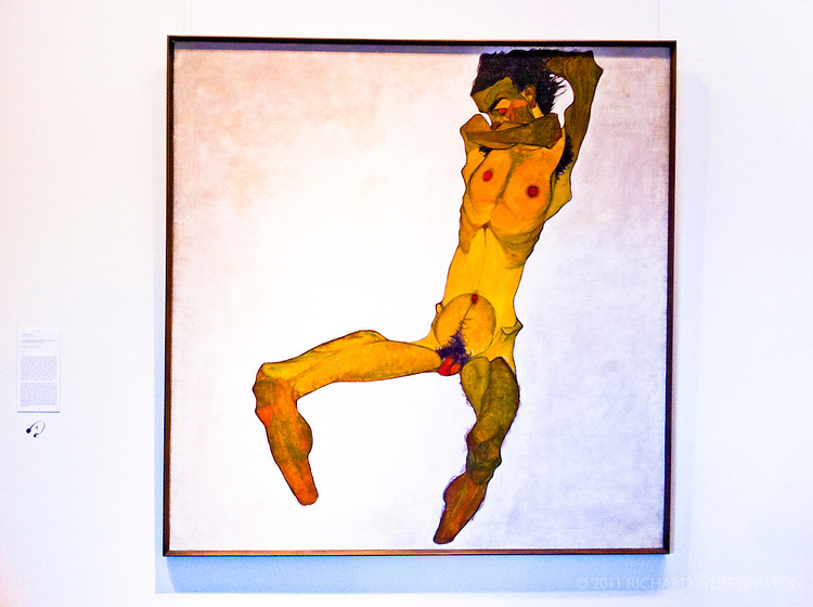 Egon Schiele nude in the Leopold Museum in the Museum Quartier.