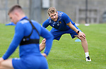 St Johnstone Training...25.08.21<br />David Wotherspoon pictured during training at McDiarmid Park this morning ahead of tomorrow's Europa Conference League qualifier second leg against Lask<br />Picture by Graeme Hart.<br />Copyright Perthshire Picture Agency<br />Tel: 01738 623350  Mobile: 07990 594431