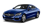 2018 Mercedes Benz C-Class C300 2 Door Coupe Angular Front stock photos of front three quarter view