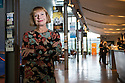 London, UK. 11.10.2013. Jenny Topper, OBE, independent theatre producer, at the Hampstead theatre, where she reigned as artistic director for 15 years. In 1988 she became HAMPSTEAD THEATRE's first woman Artistic Director. During her time there she produced one hundred and twenty-six plays. Ninety of these were premieres, forty-one enjoyed transfers to the West End, to Broadway or toured the country and thirty-four had further lives in television, film, in the regions and across the world; In the same time, fifty-five awards were made to writers and performers whose work was seen on the Hampstead Theatre stage. Jenny received an OBE, for services to drama, in the Queen's Birthday Honours in 2003. Photograph © Jane Hobson.
