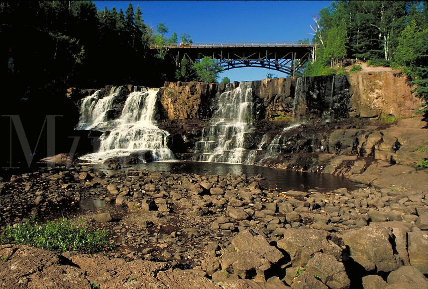 Gooseberry Falls, Gooseberry River, Gooseberry Falls Sate Park near Two Harbors. Two Harbors Minnesota USA Lake Superior.