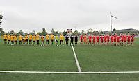 Lierse U16 - Standard de Liege U16 : beide teams line up.foto DAVID CATRY / Nikonpro.be