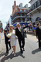 Trina Grimes Scott and former Governor Edwin Edwards walk down Bourbon Street after getting married in the French Quarter in New Orleans, La., Friday, July 29, 2011. Edwards was recently released from prison where he served eight years on corruption charges....(AP Photo/Cheryl Gerber)