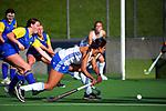 Auckland Blue v Bay Of Plenty. 2021 National Women's Under-18 Hockey Tournament at National Hockey Stadium in Wellington, New Zealand on Sunday, 11 July 2021. Photo: Dave Lintott / lintottphoto.co.nz https://bwmedia.photoshelter.com/gallery-collection/Under-18-Hockey-Nationals-2021/C0000T49v1kln8qk