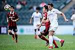 Auckland City Defender Darren White (l) fights for the ball with FC Seoul Forward Yun Il Lok (l) during the 2017 Lunar New Year Cup match between Auckland City FC (NZL) vs FC Seoul (KOR) on January 28, 2017 in Hong Kong, Hong Kong. Photo by Marcio Rodrigo Machado/Power Sport Images