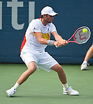 Mardy Fish of the US during his quarterfinal match at the Citi Open in Washington, DC on August 3, 2012.