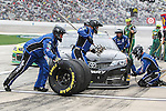 Sprint Cup Series driver Parker Kligerman (30) in action during the Nascar Sprint Cup Series Duck Commander 500 race at Texas Motor Speedway in Fort Worth,Texas.