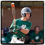 Easton Cullison (0) of the University of South Carolina Upstate Spartans Green team bats in the Green and Black Fall World Series Game 2 on Saturday, October 31, 2020, at Cleveland S. Harley Park in Spartanburg, South Carolina. Green won, 6-5. (Tom Priddy/Four Seam Images)