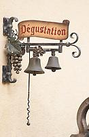 wrought iron sign wine tasting dom bruno sorg eguisheim alsace france
