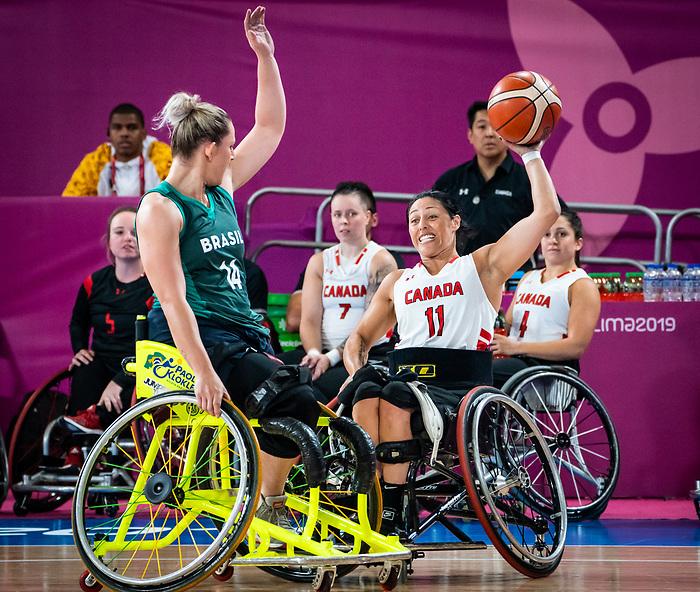 Tara Llanes, Lima 2019 - Wheelchair Basketball // Basketball en fauteuil roulant.<br /> Women's wheelchair basketball competes against Brazil // Le basketball en fauteuil roulant féminin contre Brésil. 29/08/2019.