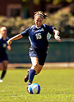 2 September 2007: University of New Hampshire Wildcats' Shaunna Kaplan, a Sophomore from Framingham, MA, in action against the University of Central Arkansas Sugar Bears at Historic Centennial Field in Burlington, Vermont. The Wilcats shut out the Sugar Bears 3-0 during the TD Banknorth Soccer Classic...Mandatory Photo Credit: Ed Wolfstein Photo