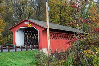 Silk Road Covered Bridge, Bennington, Vermont, USA.