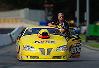 Jun. 19, 2011; Bristol, TN, USA: NHRA pro stock driver Rodger Brogdon during eliminations at the Thunder Valley Nationals at Bristol Dragway. Mandatory Credit: Mark J. Rebilas-