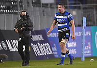 8th January 2021; Recreation Ground, Bath, Somerset, England; English Premiership Rugby, Bath versus Wasps; Charlie Ewels of Bath leaves the field after receiving a yellow card