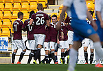 St Johnstone v Hearts...03.08.14  Steven Anderson Testimonial<br /> Gary Oliver celebrates his second goal<br /> Picture by Graeme Hart.<br /> Copyright Perthshire Picture Agency<br /> Tel: 01738 623350  Mobile: 07990 594431