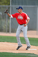 January 16, 2010:  Kellen Marruffo (Tucson, AZ) of the Baseball Factory Pacific Team during the 2010 Under Armour Pre-Season All-America Tournament at Kino Sports Complex in Tucson, AZ.  Photo By Mike Janes/Four Seam Images