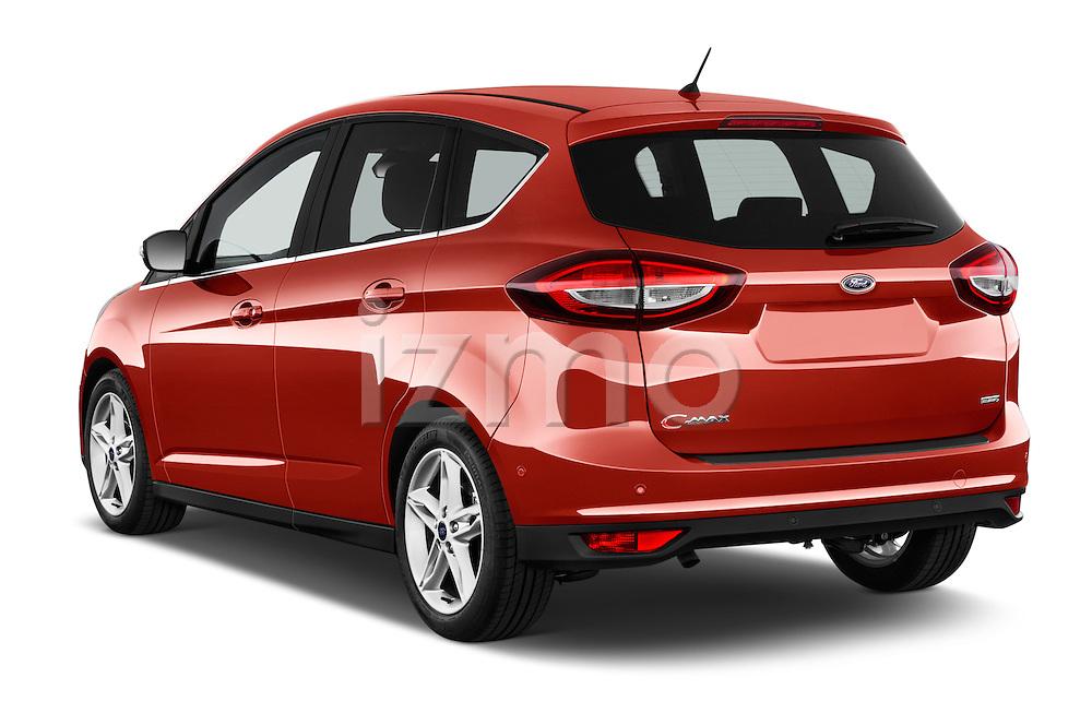 Car pictures of rear three quarter view of 2015 Ford C Max Titanium 5 Door Mini Mpv Angular Rear