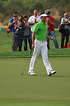 Charl Schwartzel on the 13th green on day 3 of the Abu Dhabi HSBC Golf Championship 2011, at the Abu Dhabi golf club, UAE. 22/1/11..Picture Fran Caffrey/www.golffile.ie.