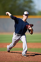Cleveland Indians pitcher Grant Hockin (58) during an Instructional League game against the Kansas City Royals on October 11, 2016 at the Cleveland Indians Player Development Complex in Goodyear, Arizona.  (Mike Janes/Four Seam Images)