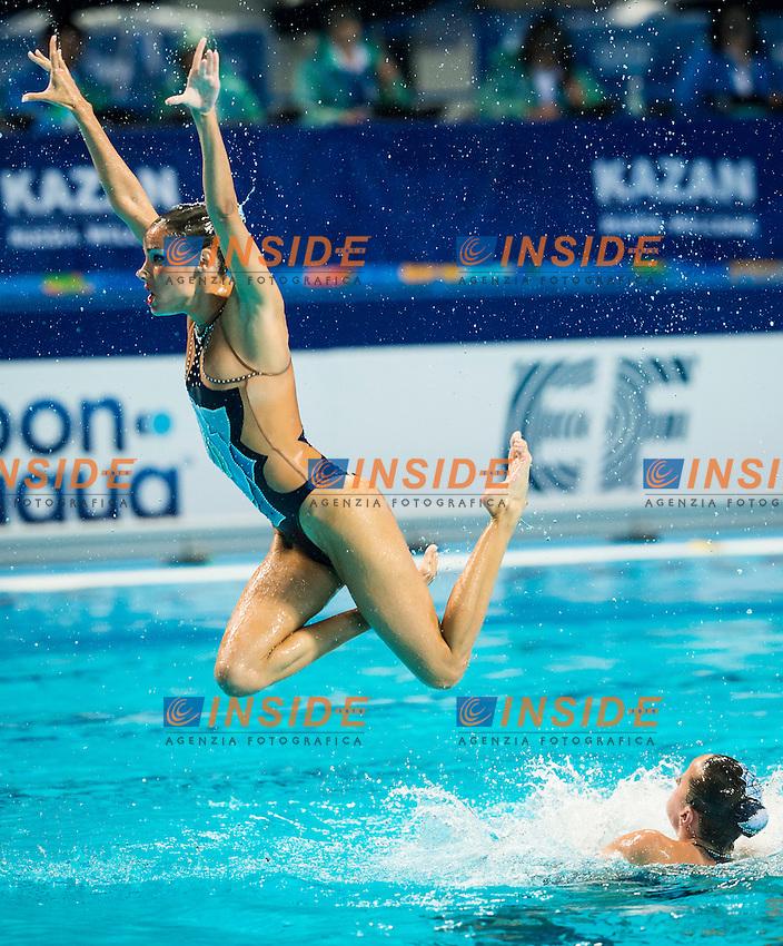 ESP - Spain<br /> BASIANA Clara CABELLO Alba<br /> CAMACHO Clara JIMENEZ Cecilia<br /> KLAMBURG Paula LEVY Sara<br /> MAS Meritxell RAMIREZ Paula<br /> SALVADOR Cristina SANCHEZ-GUARDAMINO Itziar<br /> Day 9 01/08/2015<br /> XVI FINA World Championships Aquatics<br /> Synchro<br /> Kazan Tatarstan RUS July 24 - Aug. 9 2015 <br /> Photo Giorgio Scala/Deepbluemedia/Insidefoto