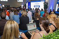 A SOLD-OUT CROWD OF MIAMI SMALL BUSINESSES GATHERS AT THE FIRST-EVER FACEBOOK FIT HELD TODAY AT SOHO STUDIOS, on Thurs., June 19, 2014 in Miami. (Photo by Marc Serota/Invision for Facebook/AP Images)