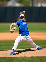 IMG Academy Ascenders pitcher Drew Gray (15) during a game against the Lakeland Dreadnaughts on February 20, 2021 at IMG Academy in Bradenton, Florida.  (Mike Janes/Four Seam Images)