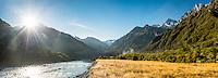 Morning at Copland River, Westland Tai Poutini National Park, West Coast, UNESCO World Heritage Area, South Westland, New Zealand, NZ