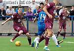 Montrose v St Johnstone…21.07.18…  Links Park    League Cup<br />Blair Alston is closed down by Sean Dillon<br />Picture by Graeme Hart. <br />Copyright Perthshire Picture Agency<br />Tel: 01738 623350  Mobile: 07990 594431