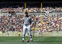 Umpire Michael Delaney waits for the teams to come onto the field after a timeout.The Pittsburgh Panthers defeat the New Hampshire Wildcats 38-16 at Heinz Field, Pittsburgh Pennsylvania on September 11, 2010.
