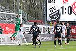 Hendrik Bonmann (Wuerzburger Kickers, Nr. 39) kann den Ball sicher halten beim Spiel in der 2. Bundesliga, SV Sandhausen - Wuerzburger Kickers.<br /> <br /> Foto © PIX-Sportfotos *** Foto ist honorarpflichtig! *** Auf Anfrage in hoeherer Qualitaet/Aufloesung. Belegexemplar erbeten. Veroeffentlichung ausschliesslich fuer journalistisch-publizistische Zwecke. For editorial use only. For editorial use only. DFL regulations prohibit any use of photographs as image sequences and/or quasi-video.