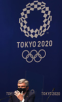 210721 -- TOKYO, July 21, 2021 -- International Olympic Committee IOC President Thomas Bach attends a press conference, PK, Pressekonferenz at the Main Press Center MPC of Tokyo 2020 in Tokyo, Japan, July 21, 2021.  TOKYO2020JAPAN-TOKYO-OLYMPICS-MPC-PRESS CONFERENCE JiaxHaocheng PUBLICATIONxNOTxINxCHN <br /> Photo Imago / Insidefoto ITALY ONLY