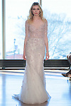 "Model Viki walks runway in a ""Didi"" bridal gown from the Rivini Spring Summer 2017 bridal collection by Rita Vinieris at The Standard Highline Room, during New York Bridal Fashion Week on April 15, 2016."