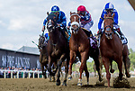 May 14, 2021: Red Ghost (chestnut/blue and white cap) (Ghostzapper) (John Velazquez up, Wesley Ward trainer, Douglas Scharbauer breeder and owner) wins the Miss Preakness Stakes (G3) on Black-Eyed Susan Day at Pimlico Race Course in Baltimore, Maryland. Alex Evers/Eclipse Sportswire/CSM