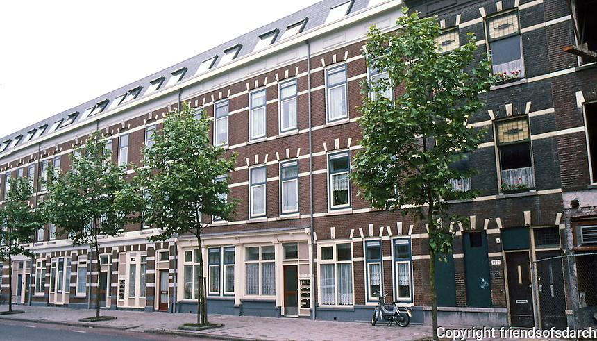 Rotterdam: Retrofitting 19th century housing stock on Oranjeboom Str., South Rotterdam, 1987. Photo '87.