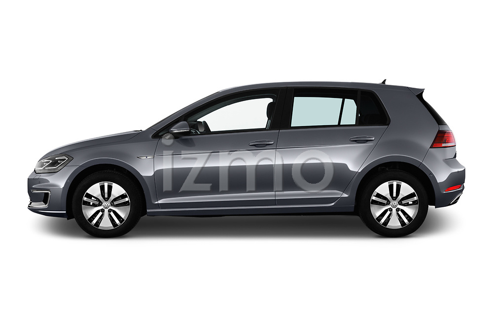 Car Driver side profile view of a 2017 Volkswagen Golf e 5 Door Hatchback Side View