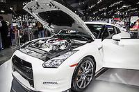 SAO PAULO, SP - 05.11.2014 - SALÃO DO AUTOMÓVEL - Nissan GT-R é uma das atrações da montadora japonesa na tarde desta quarta-feira (5) em São Paulo. O evento receberá o público até o dia 9 de novembro.<br /> <br /> <br /> (Foto: Fabricio Bomjardim / Brazil Photo Press)