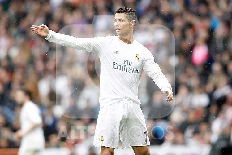 Real Madrid's Cristiano Ronaldo during La Liga match. February 13,2016. (ALTERPHOTOS/Acero)