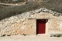 underground wine cellars bodegas frutos villar , cigales spain castile and leon